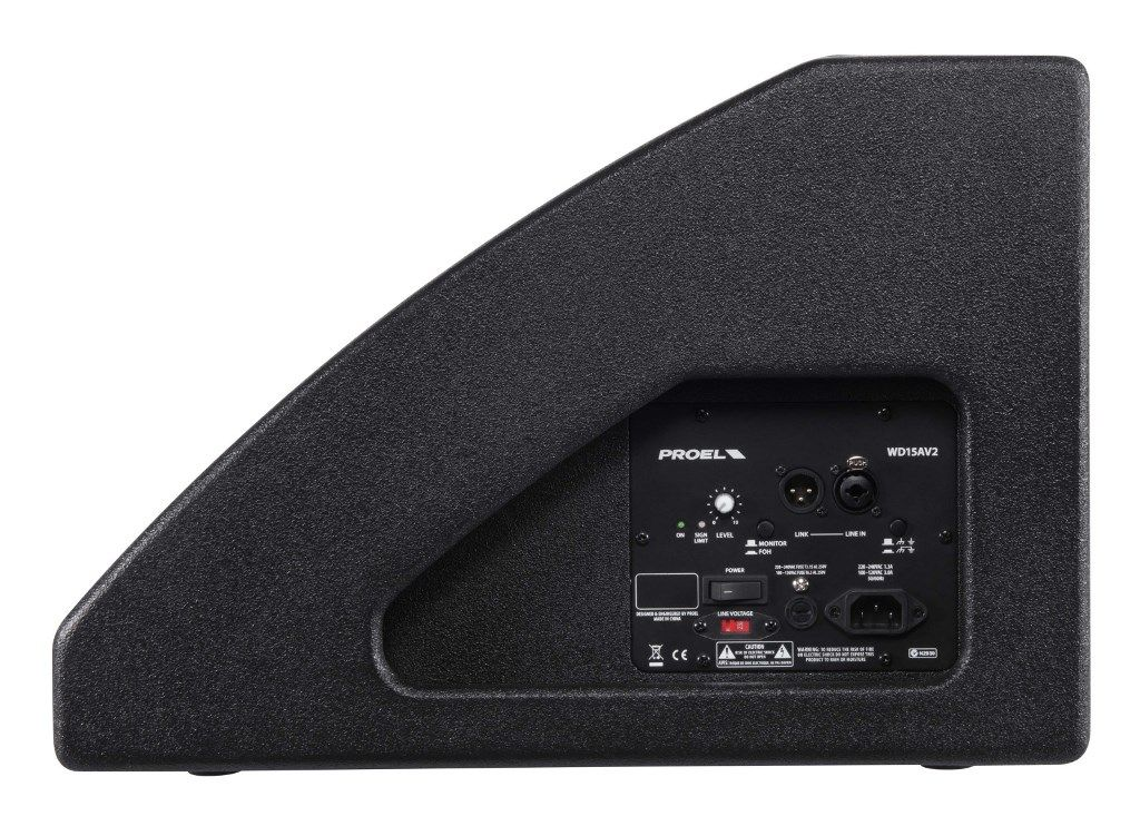 "Caixa Acústica Monitor - Coaxial 15"" + Driver 1"" - Ativo - 450W RMS - WD15AV2 - PROEL"
