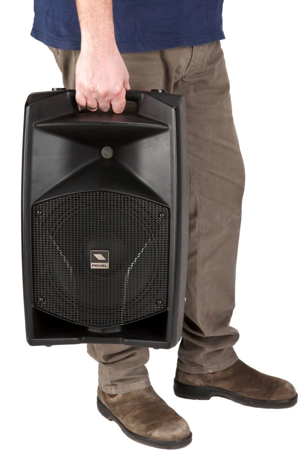 """Caixa Acústica Portátil 10"""" - Ativa - 300W RMS - V10A - PROEL"""