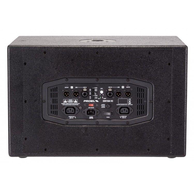 """Caixa Acústica - Subwoofer - Ativo - 10"""" - 250W RMS - SW110AV2 -  PROEL"""