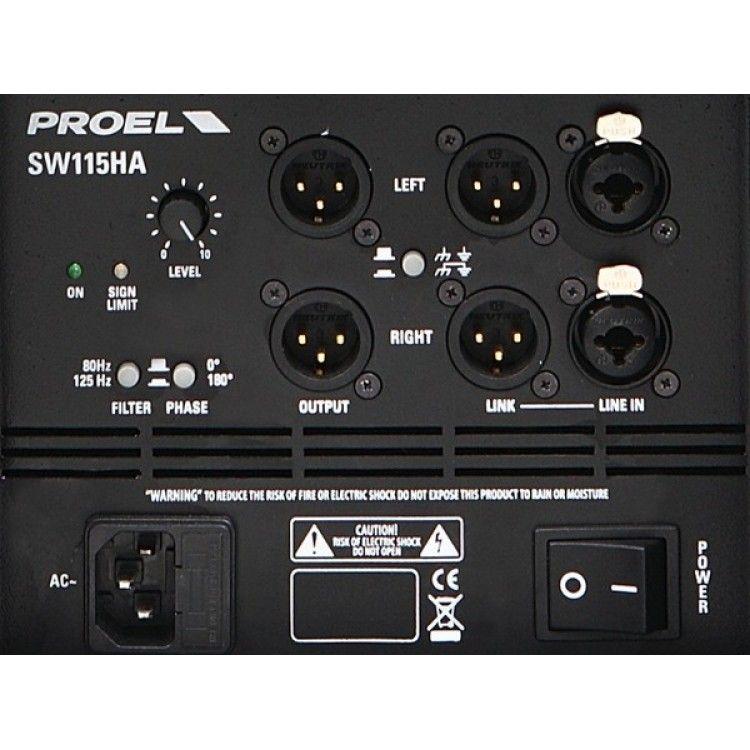 """Caixa Acústica - Subwoofer - Ativo - 15"""" - 500W RMS - SW115HAV2 - PROEL"""