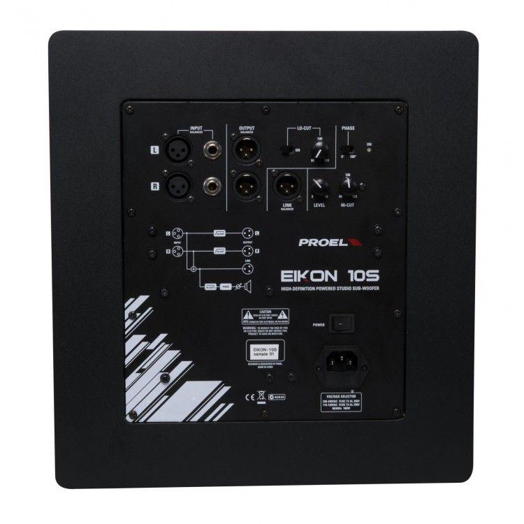 """Caixa Acústica - Subwoofer para Estúdio 10"""" - Ativo - EIKON10S - PROEL"""