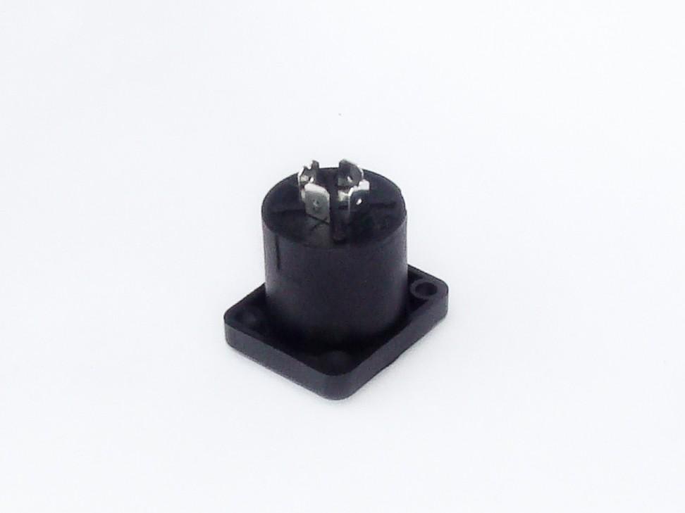 Conector SPEAKON 4 Polos - Quadrado de Painel - AK SPK4QP - ARKO AUDIO