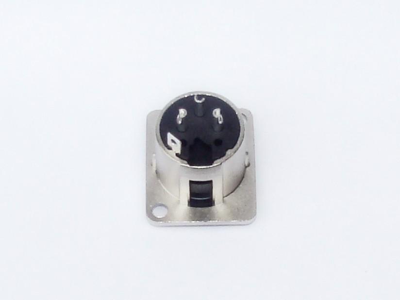 Conector XLR 3 Polos - Femea de Painel - AK XLR3FP - ARKO AUDIO