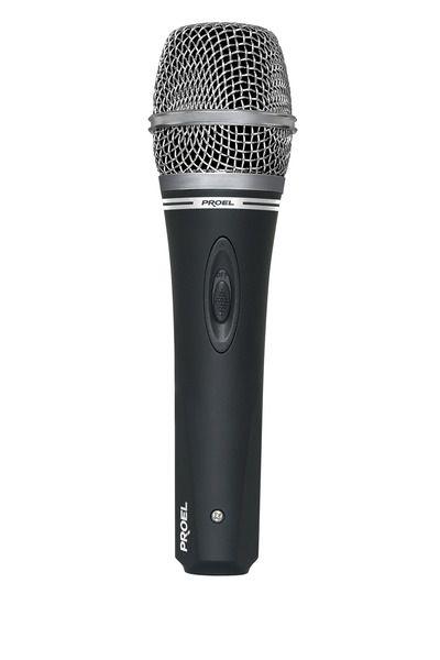 Microfone de Mão - com fio - Dinâmico - com chave - DM220 - PROEL