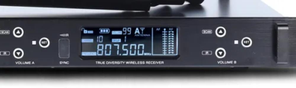 Microfone sem fio - Duplo de mão UHF - WMU802DM - ARKO AUDIO