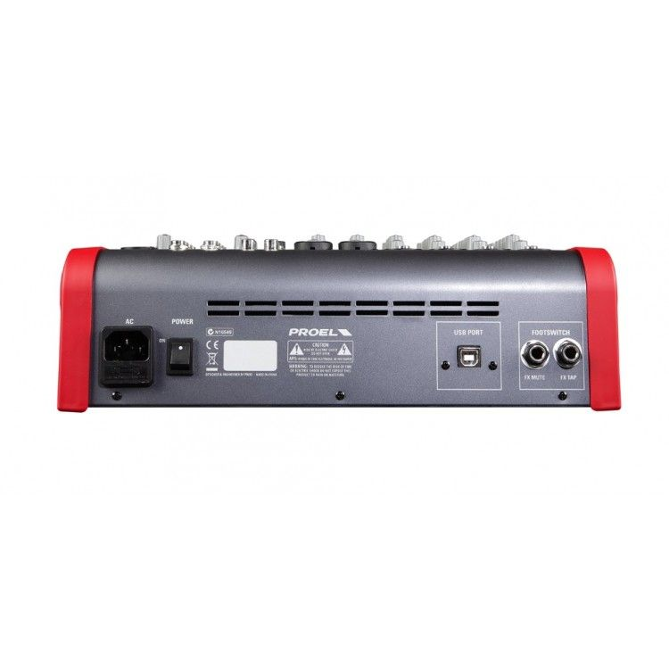Mixer Analógico - 08 Canais - c/ Multiefeito e USB - M822USB - PROEL