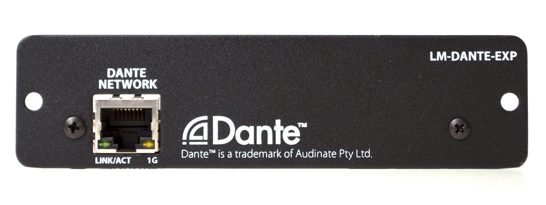 Placa Expansora Dante - Para MIX-16/32 - LM-DANTE-EXP - LIVEMIX
