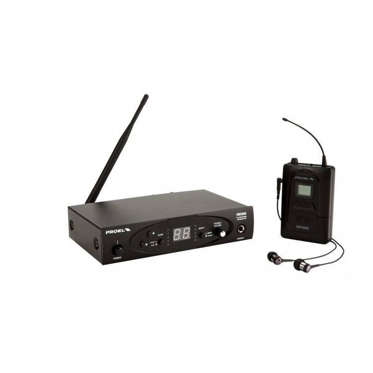 Sistema sem Fio  - In-Ear - UHF - RM3000TR - PROEL