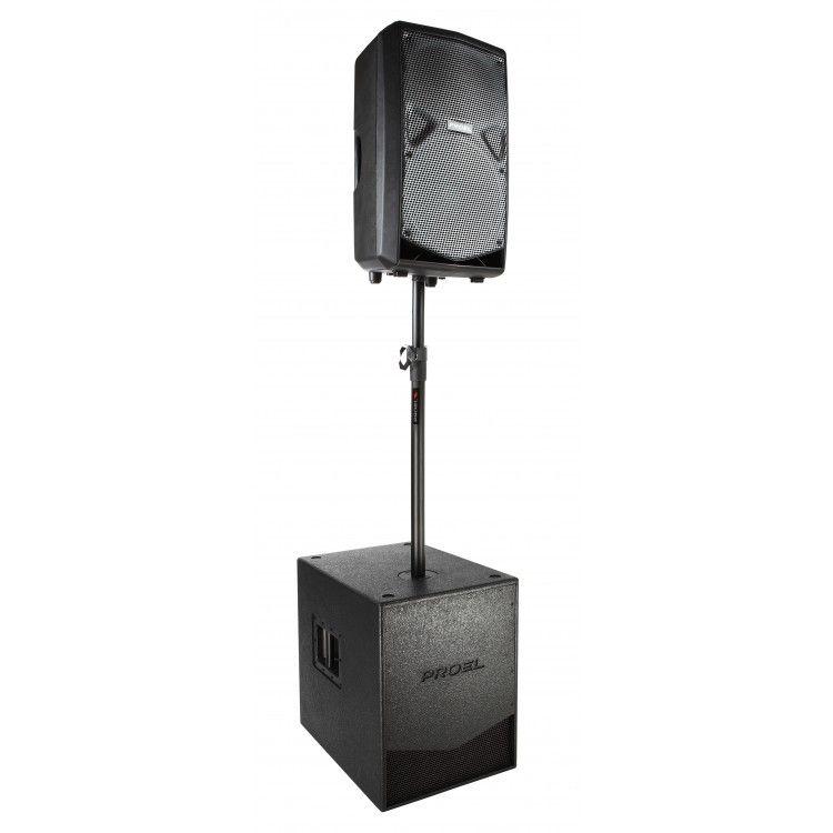 Suporte para Caixa Acústica - Extensor de Conexão - c/ Regulagem de Altura - KP210 - PROEL
