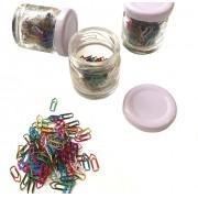 Kit Mini Clips Metalizados Coloridos - 350 clips