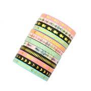 Kit Mini Washi Tape Foil com Calendário - 12 unidades