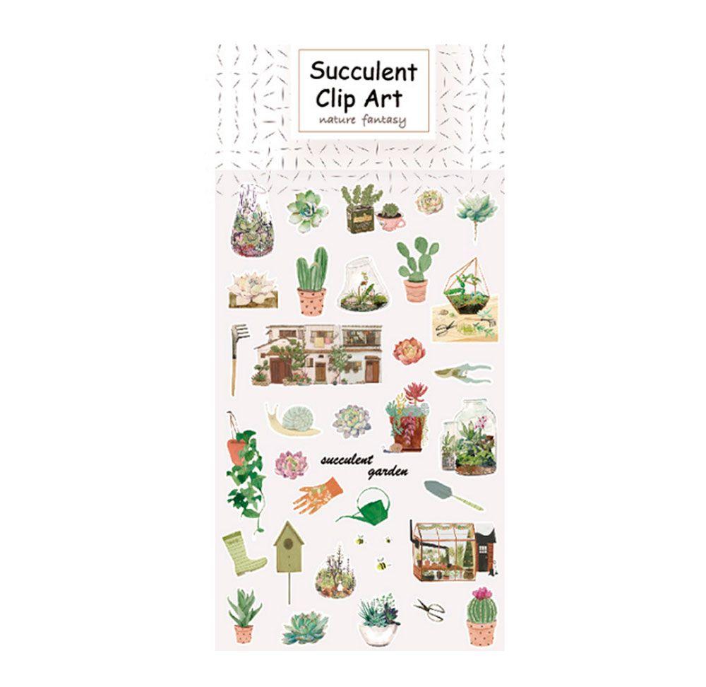 Adesivo Suculent Garden