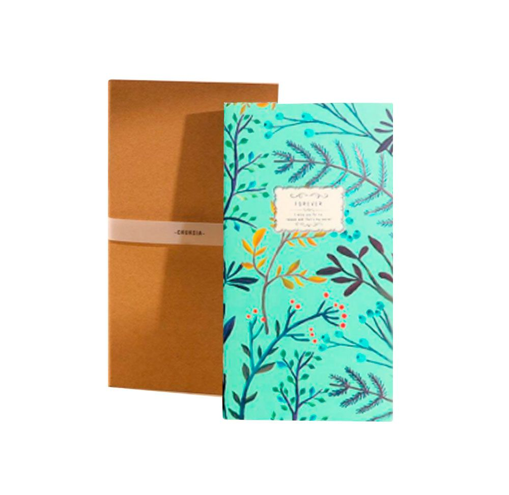 Caderneta Floral Forever  + Caderneta Kraft - 2 unidades