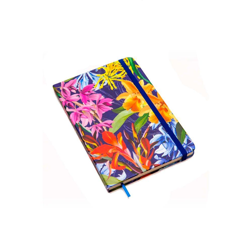 Caderno Floral Hype Pontilhado (Bullet Journal)