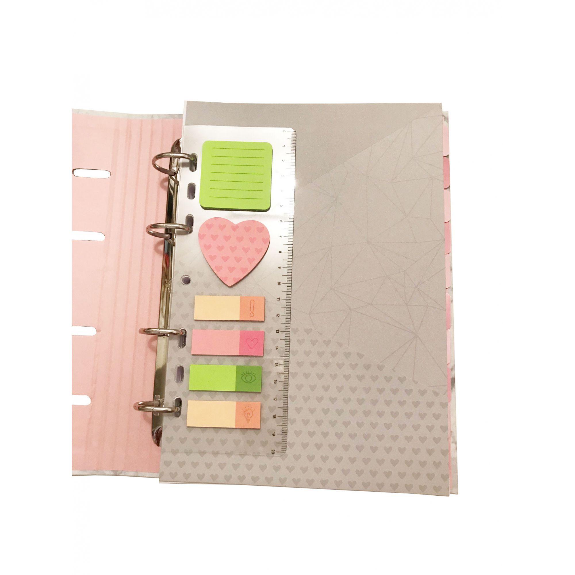 Caderno Argolado Pink Stone