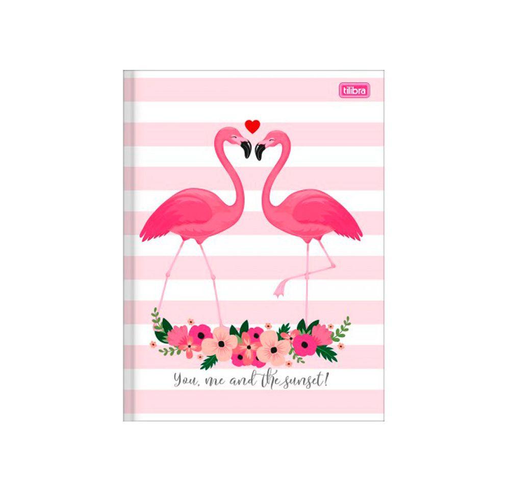 Caderno Brochura Flamingo Aloha