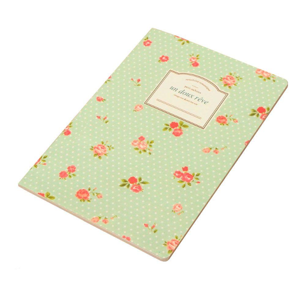 Caderno Floral Un Doux Rêve