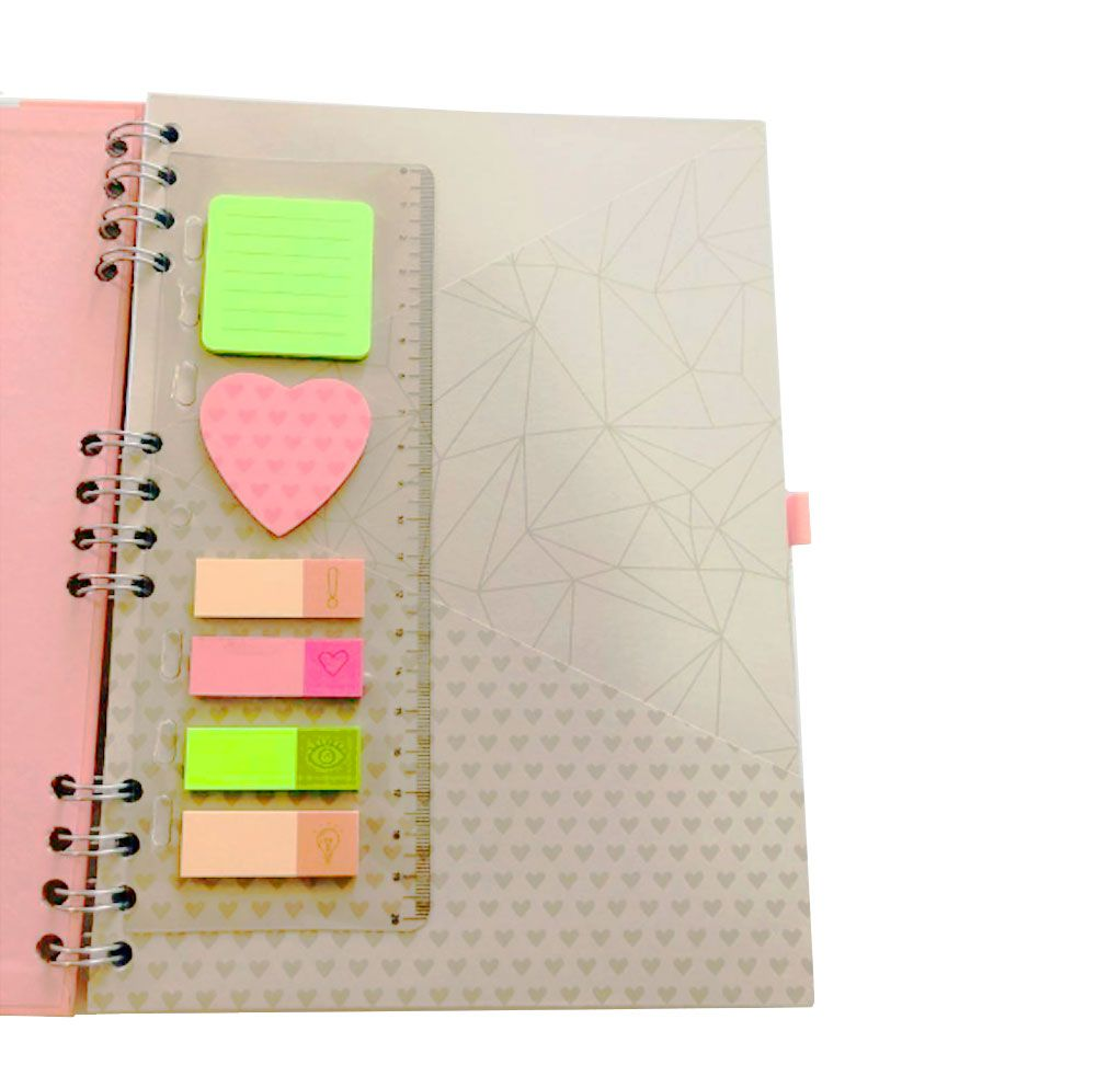Caderno Pink Stone