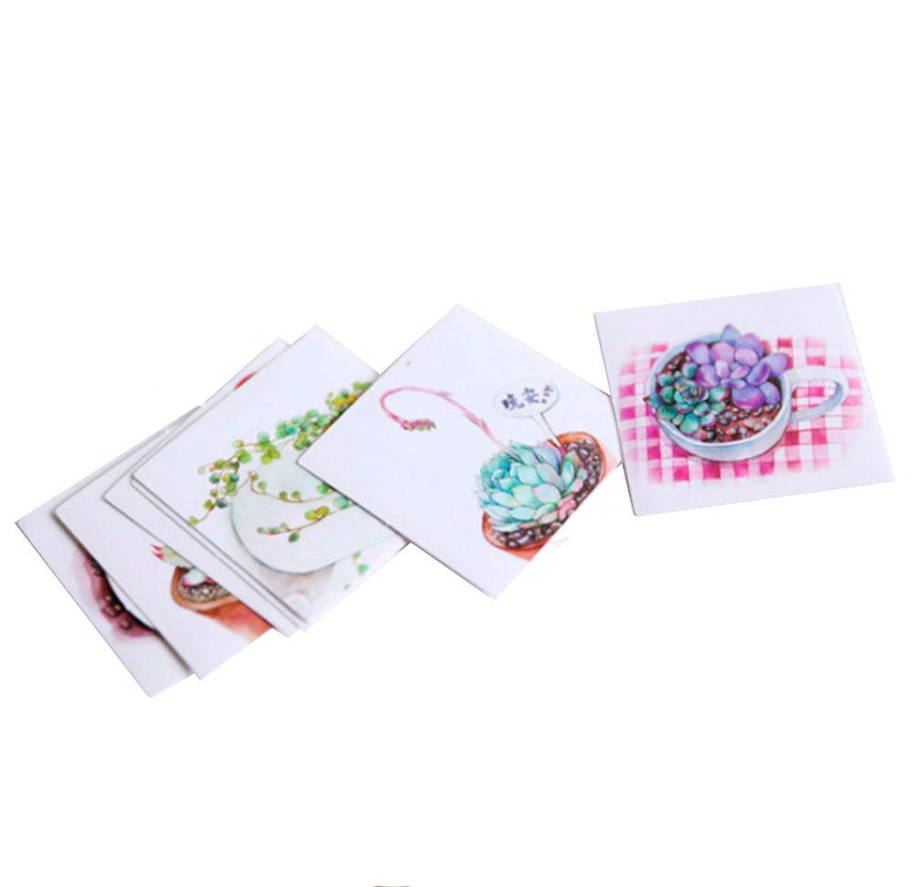 Caixinha de Adesivos Suculentas - 45 adesivos