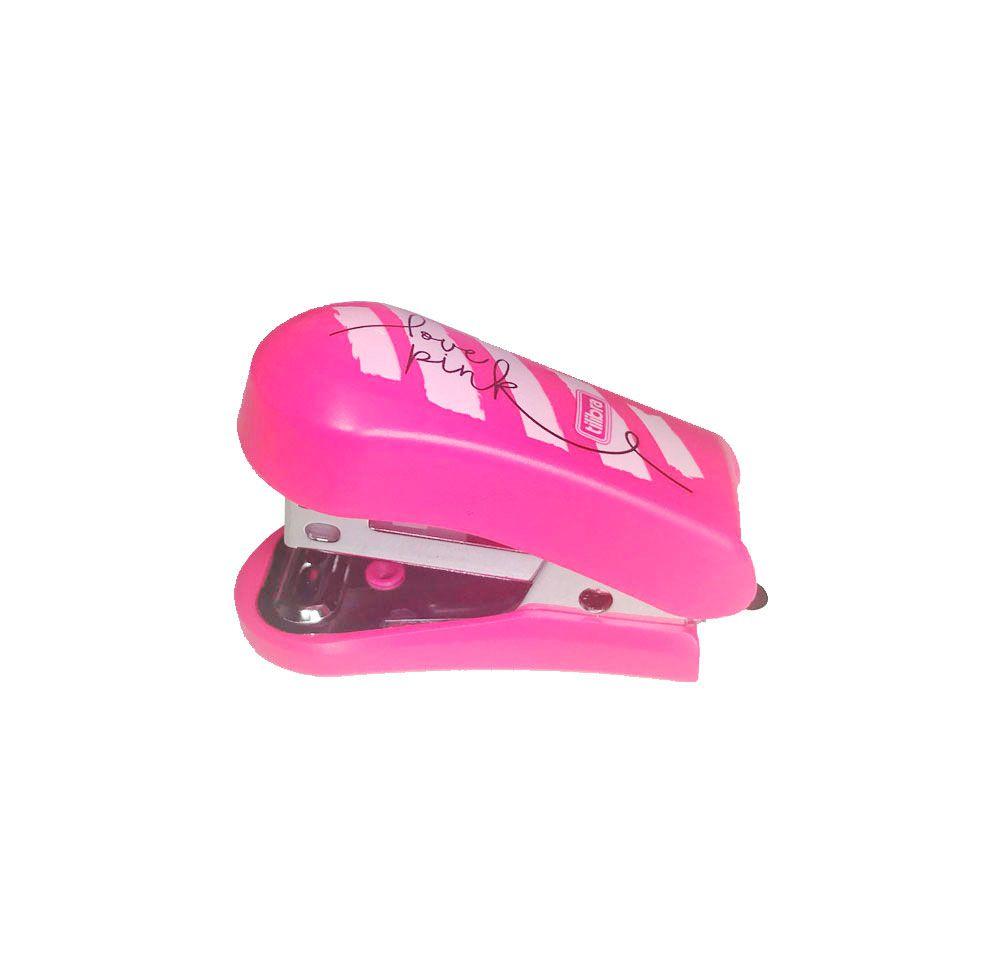 Grampeador com Extrator Love Pink Mini