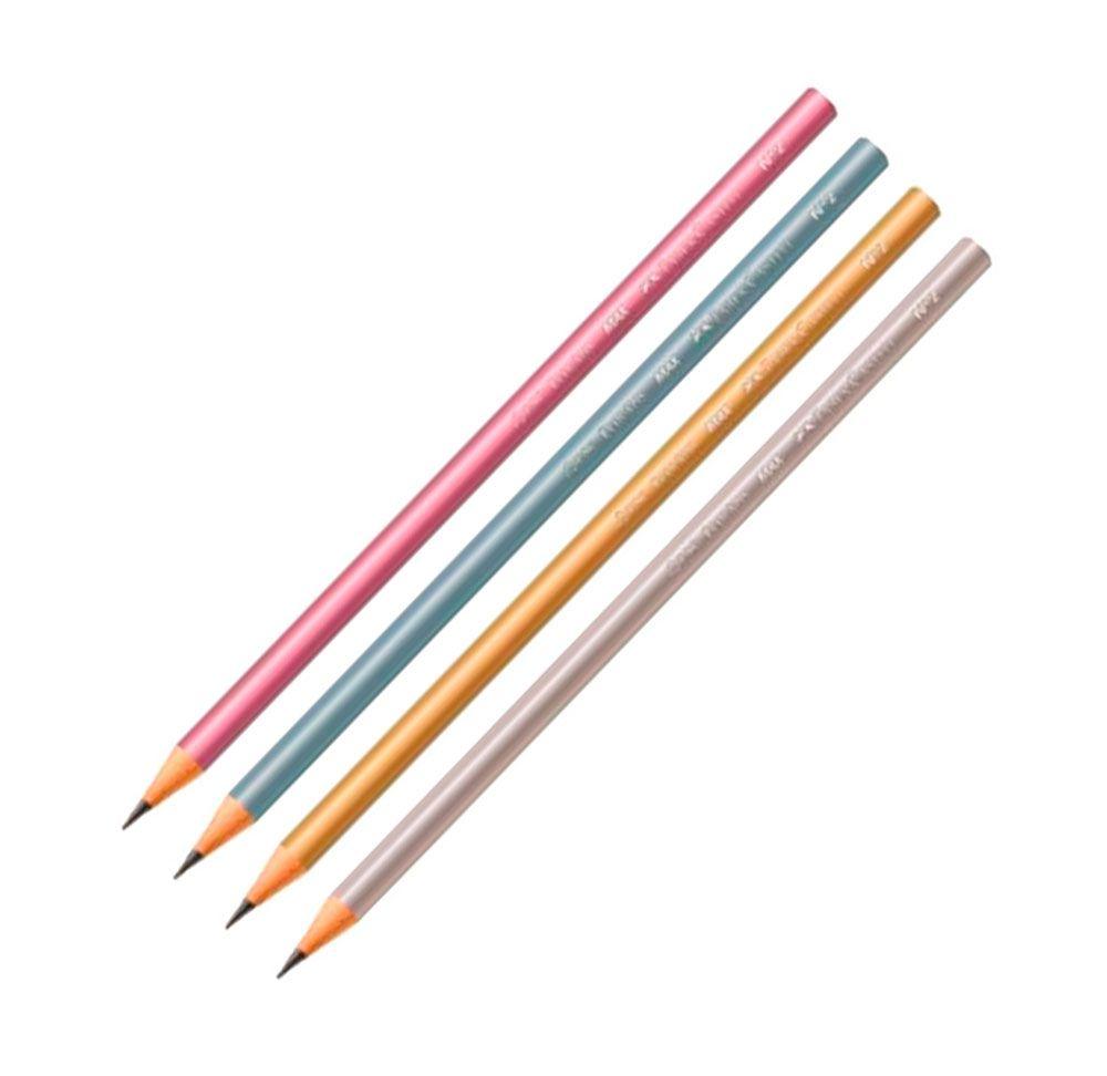 Kit 4 Lápis Metalizados