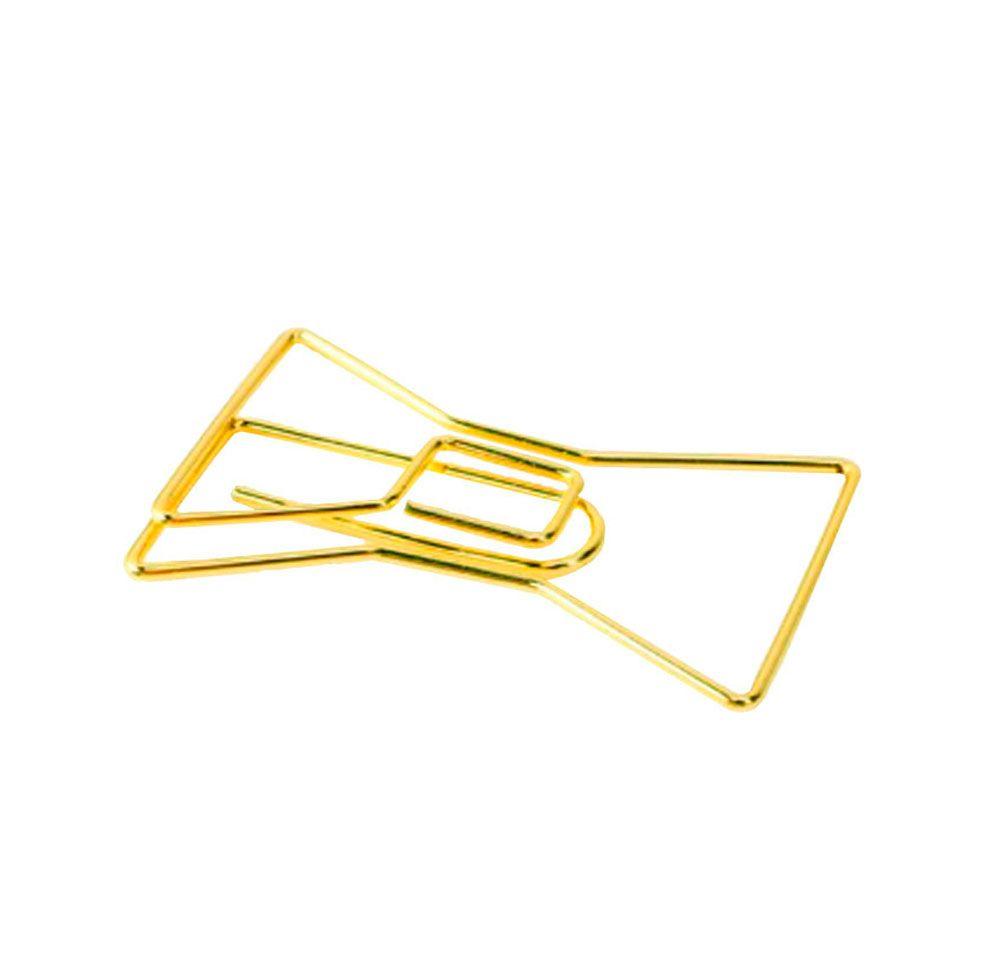 Kit Clips Laço Dourado