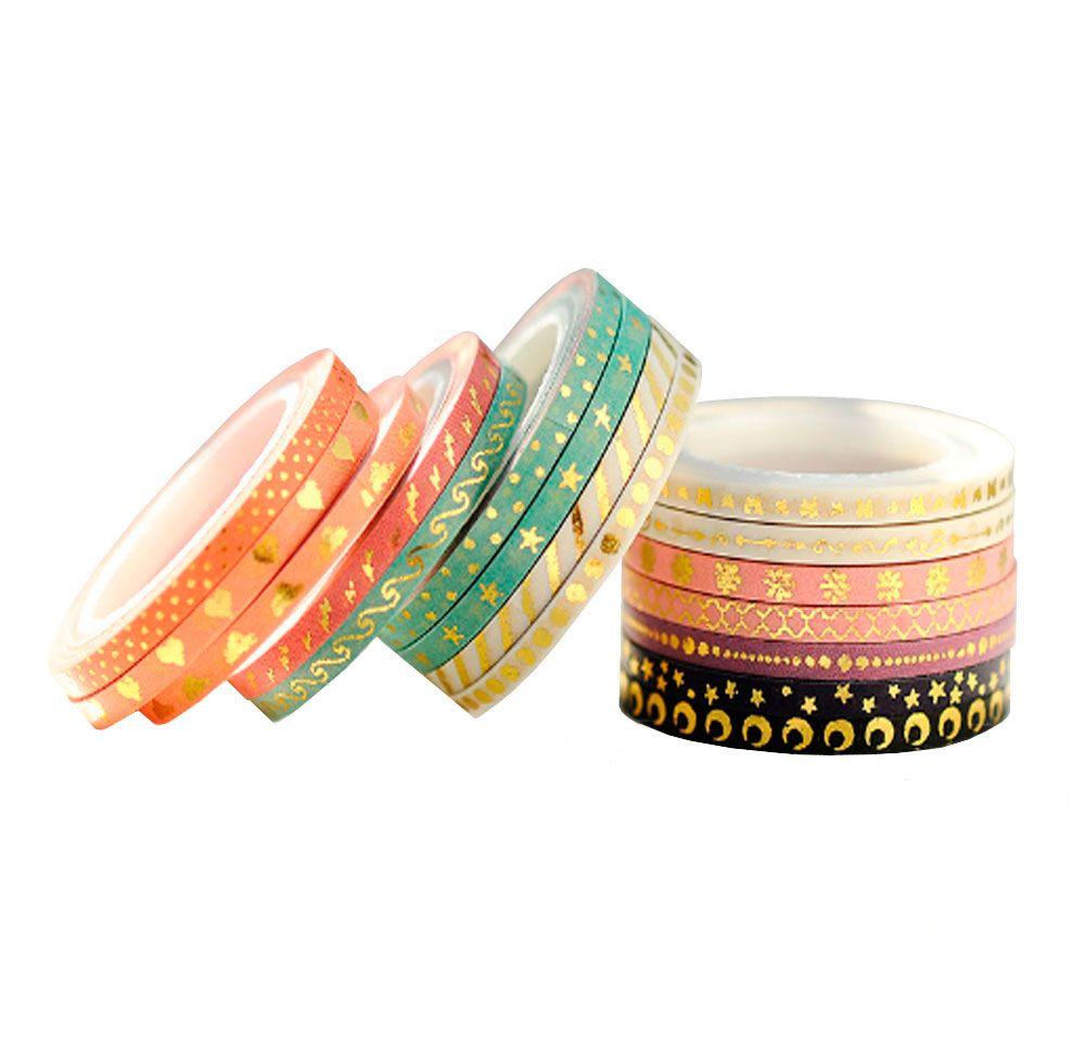 Kit Mini Washi Tape Foil