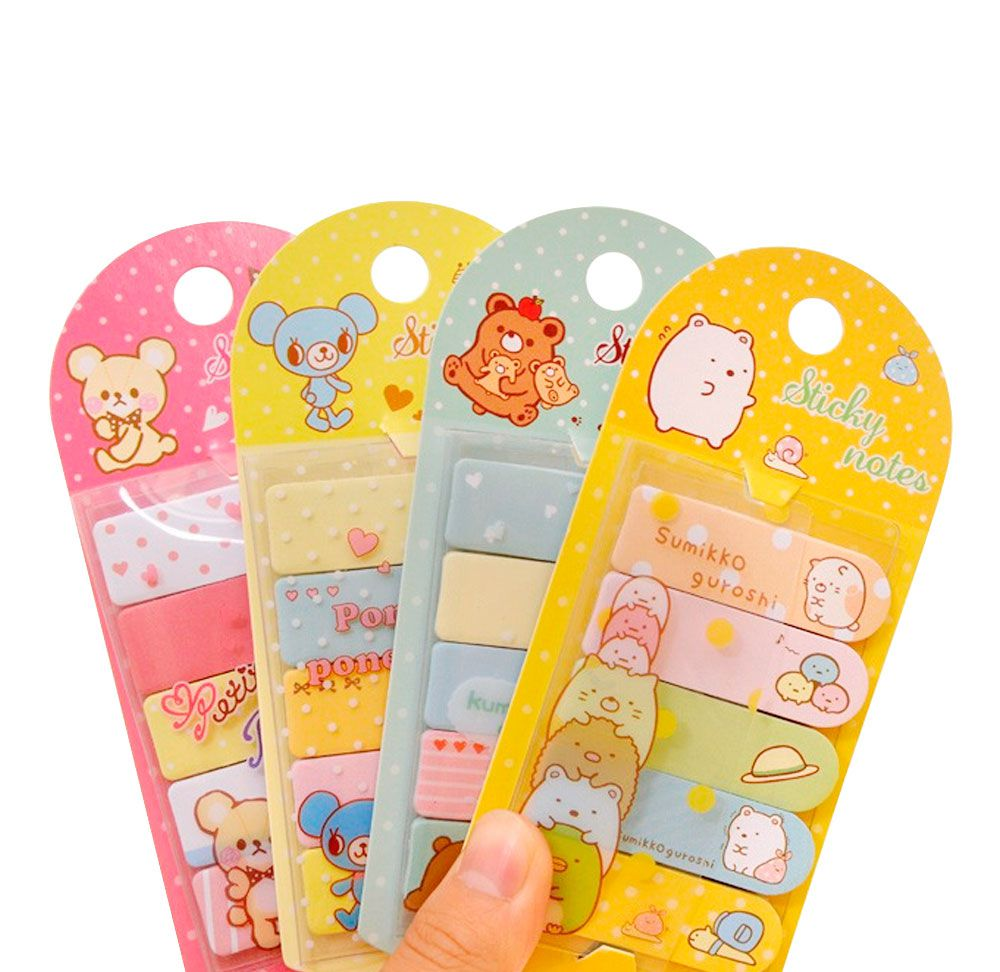 Sticky Note Bichinhos com Pasta