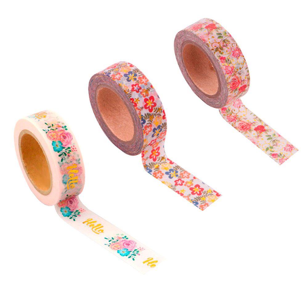 Washi Tape Floral Foil