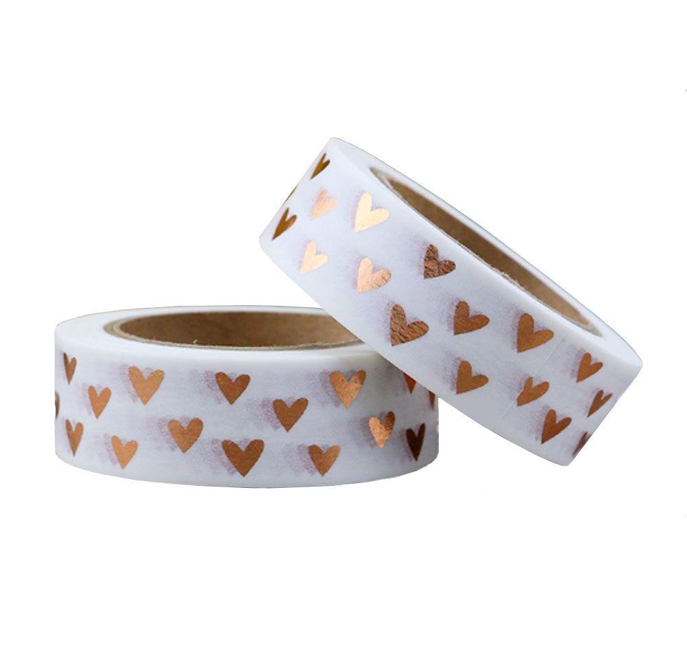 Washi Tape Rose Gold Heart