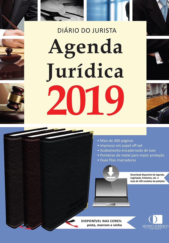 Agenda jurídica 2019 - Cor preta