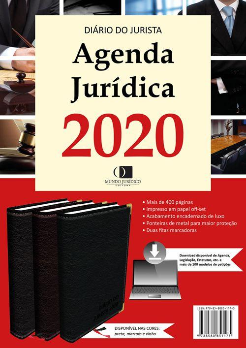 Agenda jurídica 2020 - Cor preta