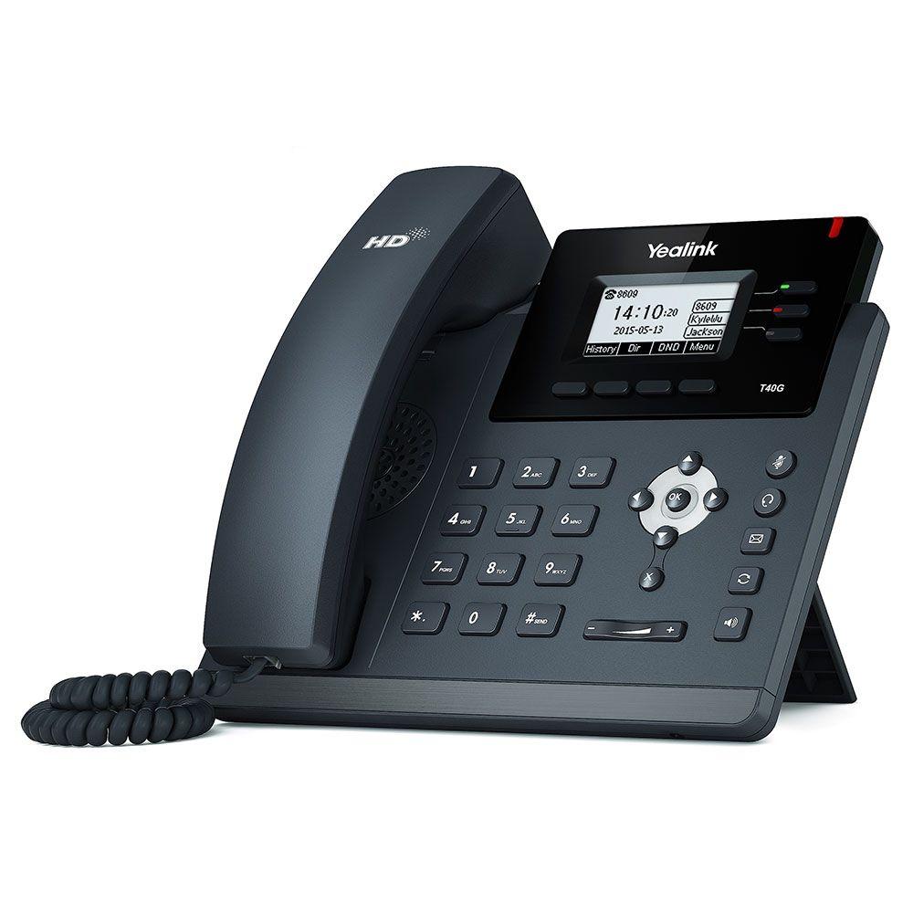 Telefone IP SIP-T40G C/ Fonte