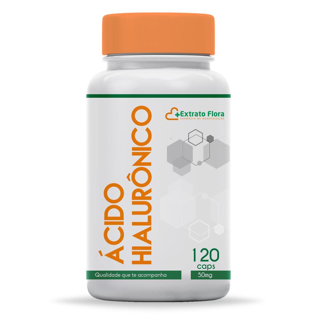 Ácido Hialurônico 50mg 120 Cápsulas