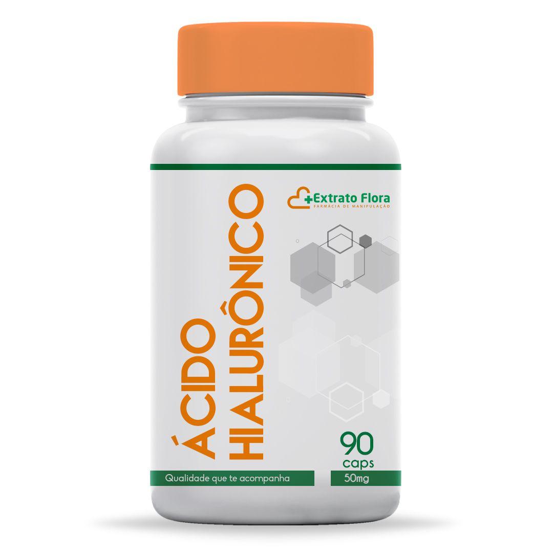 Ácido Hialurônico 50mg 90 Cápsulas