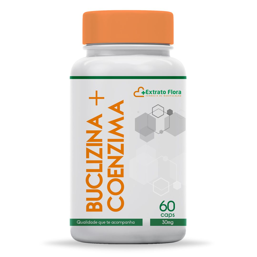 Buclizina + Coenzima B12 30mg 60 Cápsulas