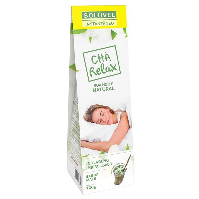 Chá Relax Solúvel Instantâneo Com Colágeno Hidrolisado Sabor Mate 120g