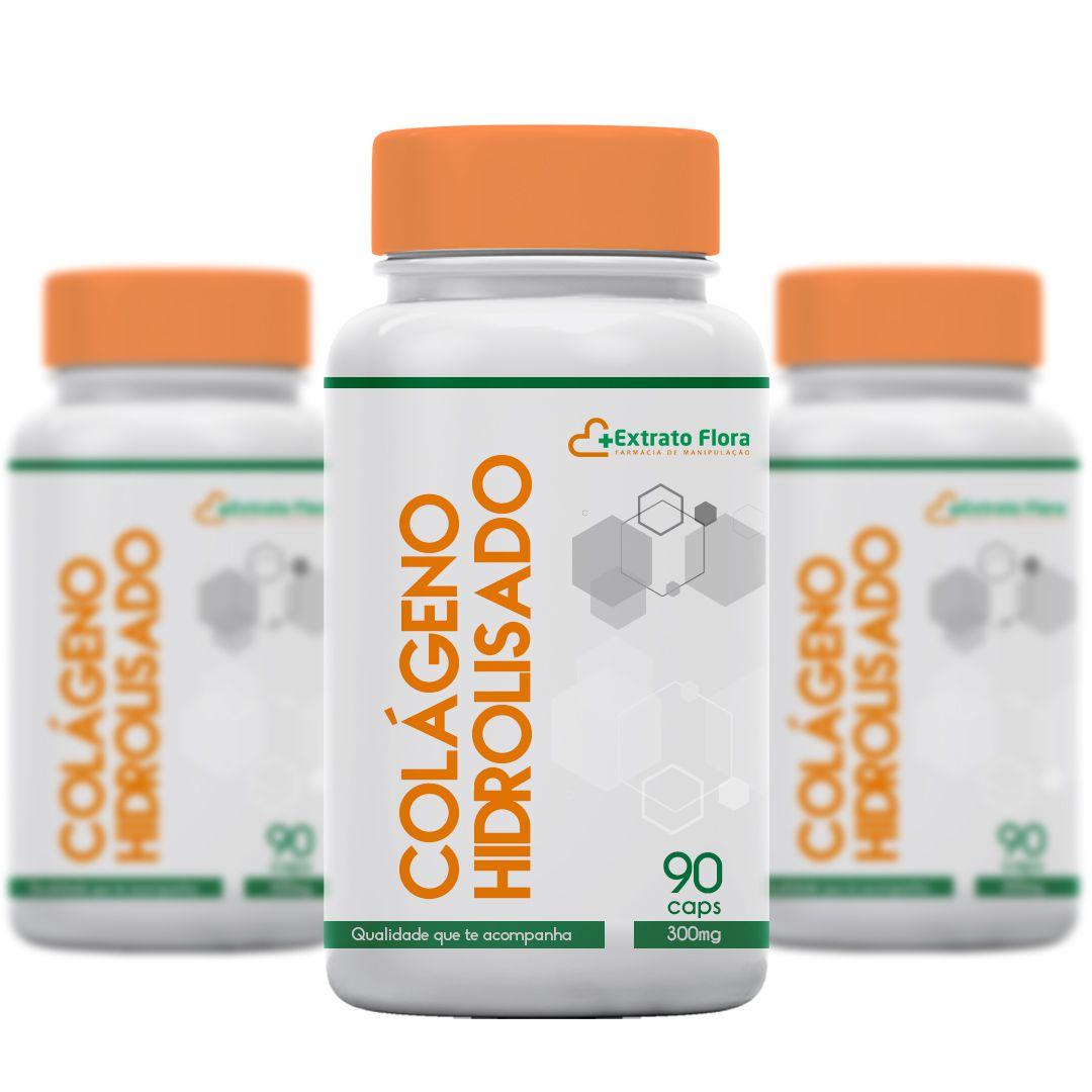 Colágeno Hidrolisado 500mg 90 Cápsulas (3und)
