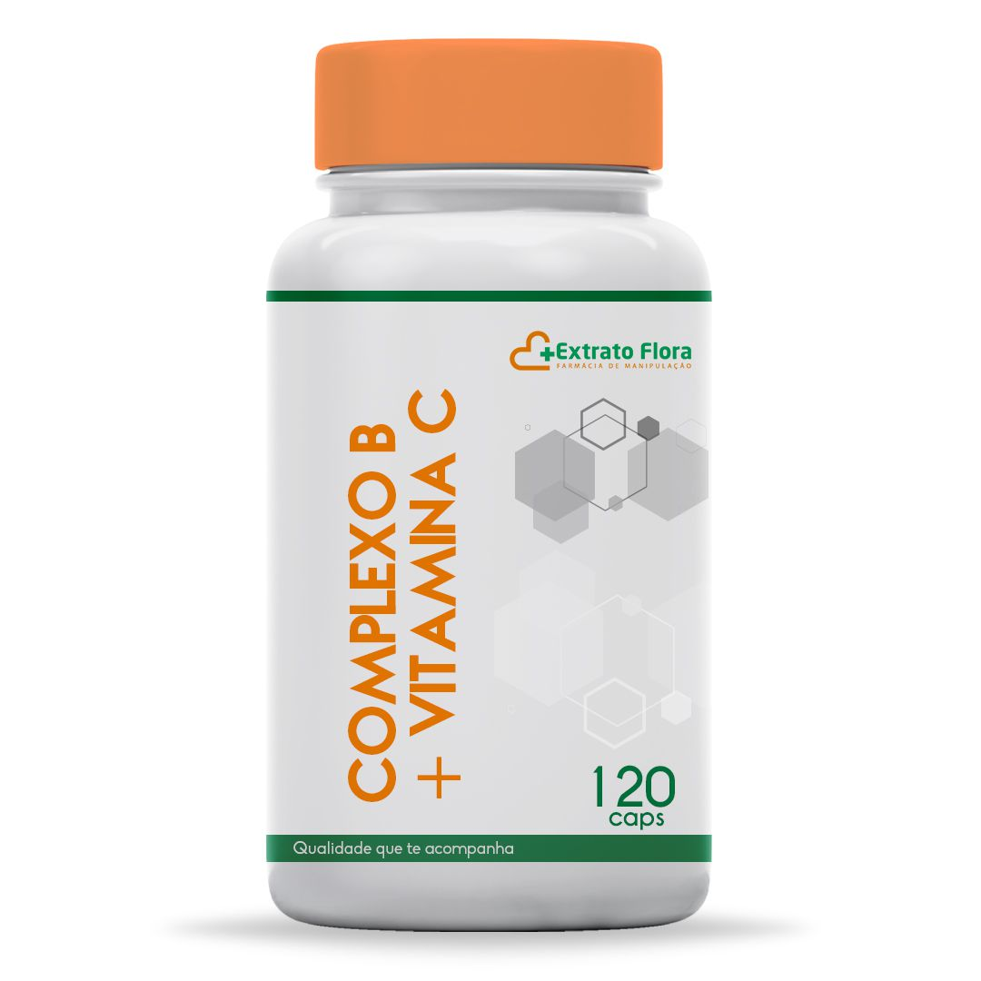 Complexo B + Vitamina C 120 Cápsulas