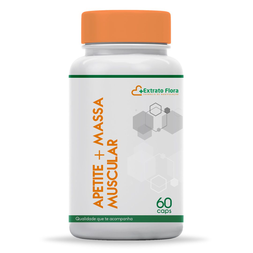 Estimulante do Apetite e Massa Muscular 60 Cápsulas