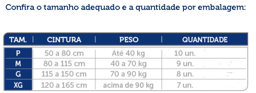 Fralda descartável Mili Vita Geriátrica, Pós-operatório, Pós-parto (uso adulto) Tamanho M 9 unidades