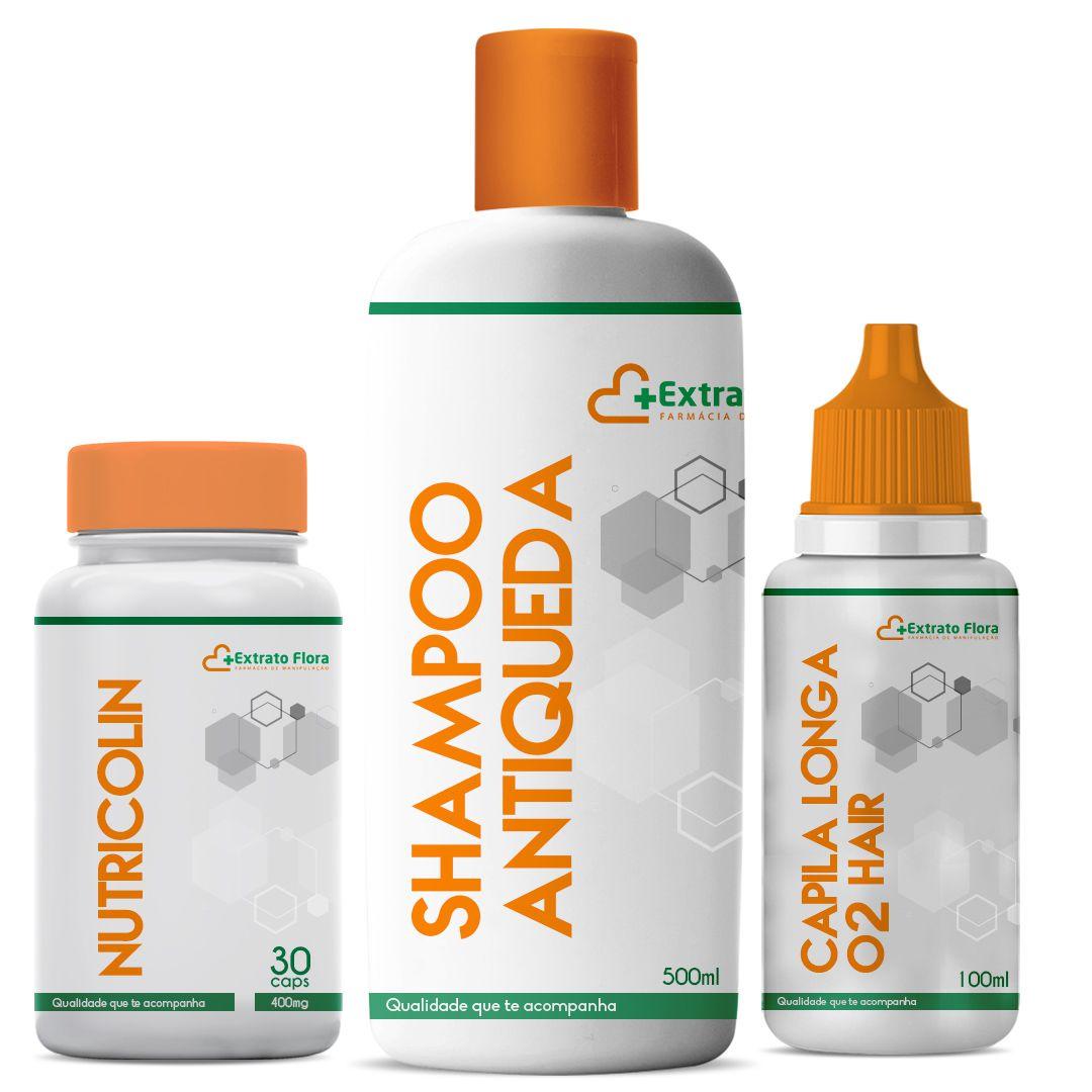 Kit Anti-Queda (Capilonga - O2 Hair - Nutricolin)