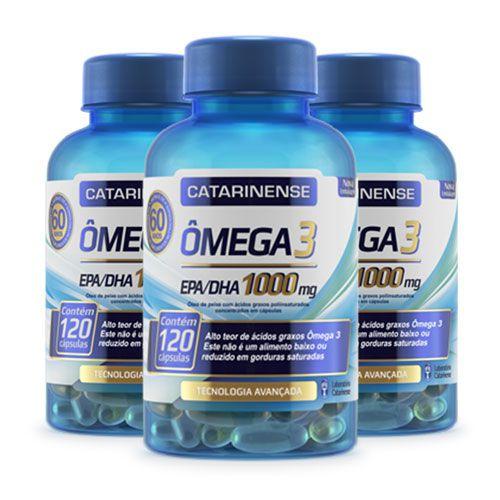 Ômega 3 Catarinense - 1000mg 120 Cápsulas (3 frascos)