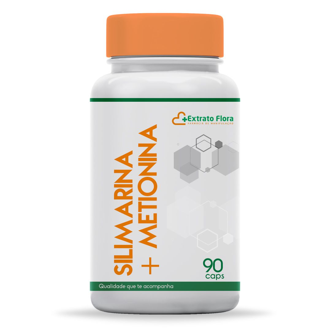 Silimarina 100mg + DL Metionina 500mg  90 Cápsulas