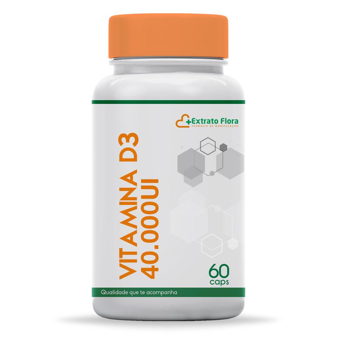 Vitamina D3 40.000UI 60 Cápsulas