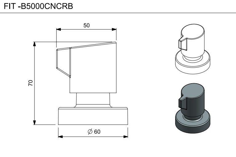 ACABAMENTO PARA REGISTRO 3/4 FIT CROMADO B5000CNCRB - CELITE