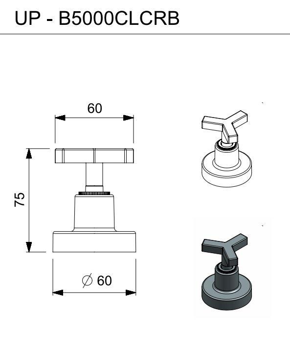 ACABAMENTO PARA REGISTRO 3/4 UP CROMADO B5000CLCRB - CELITE