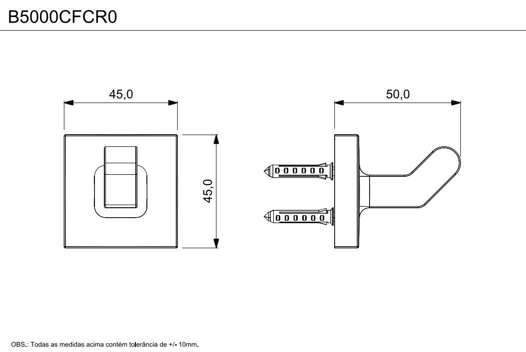 CABIDE UP CROMADO B5016CLCR0 - CELITE