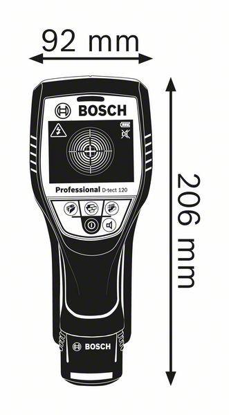 DETECTOR DE MATERIAIS DE PROFUNDIDADE 120MM D-TECT 120 - BOSCH