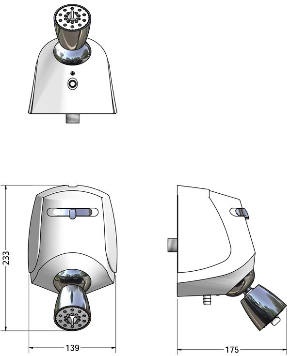 DUCHA RELAX 3 TEMPERATURAS 220V BRANCA COM CROMADO 7540115 - LORENZETTI
